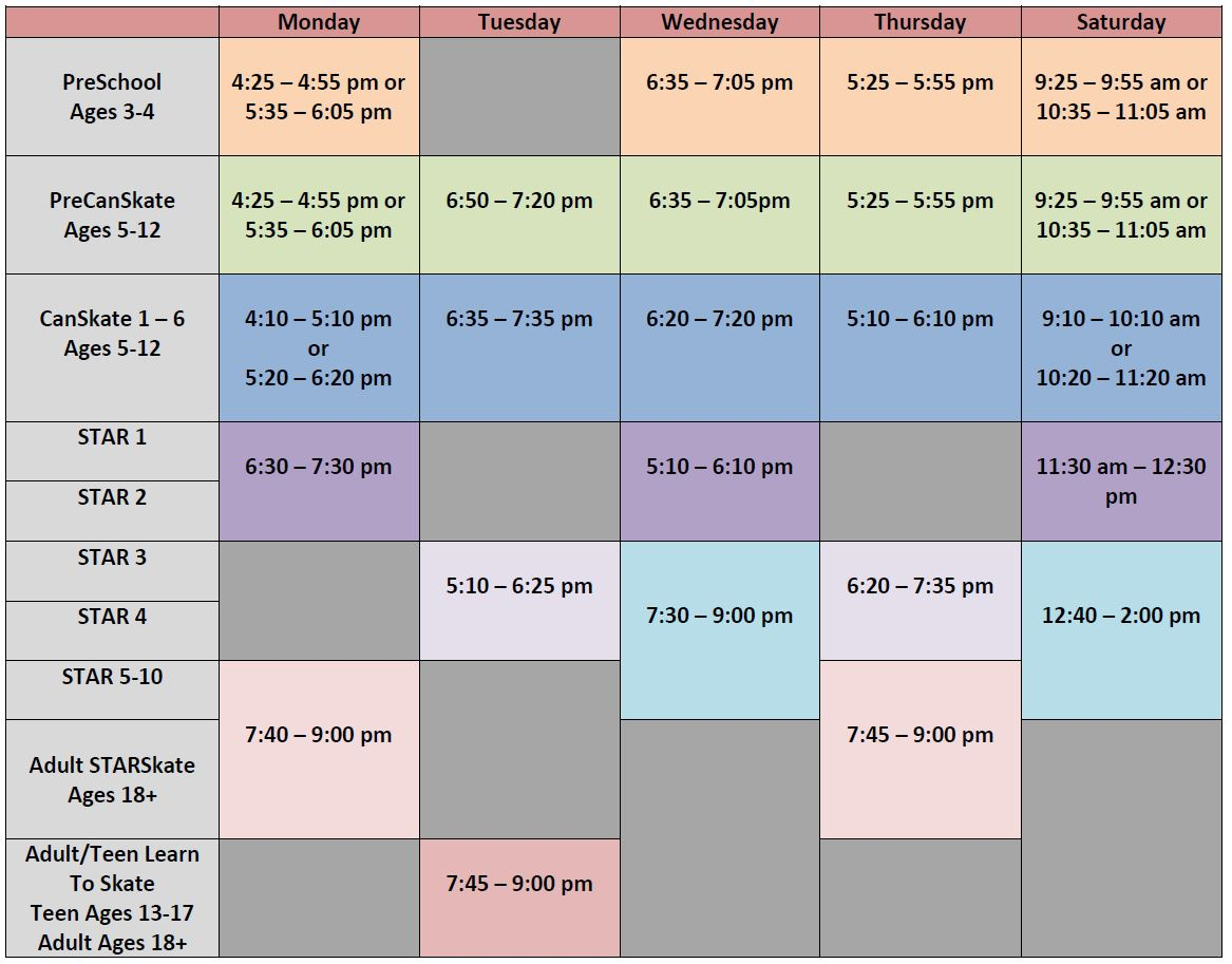 Fall-Winter Program Schedule